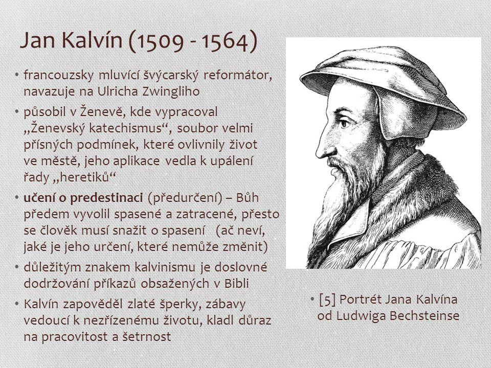 [5] Portrét Jana Kalvína od Ludwiga Bechsteinse